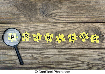 Puzzle with word Problems - Puzzle pieces with word Problems