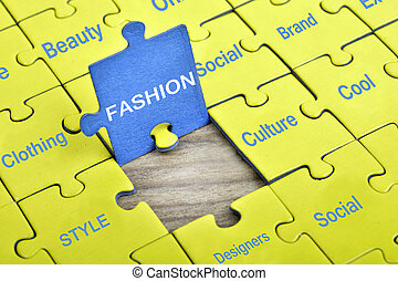 Puzzle with word Fashion