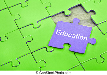 Puzzle with word Education