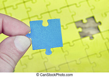 Puzzle with empty piece