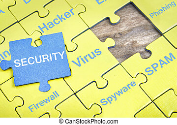 Puzzle with word Security
