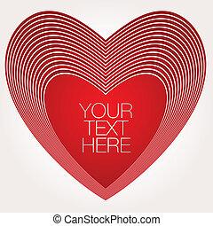 résumé, rouges, coeur
