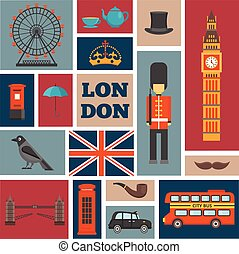 London Square Icon Set