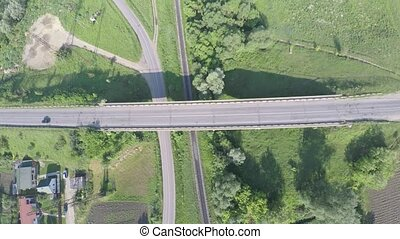 aerial view of highway in Ukraine