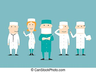 Medical professional occupation characters