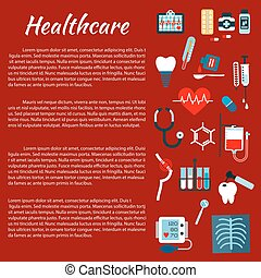 Healthcare medical infographic leaflet