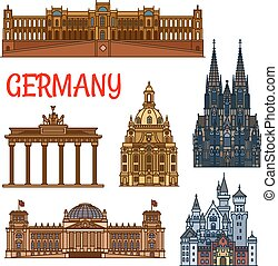 Historic buildings and sightseeings of Germany - Historic...