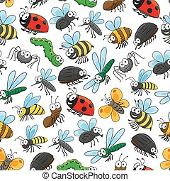 Bugs and insects funny cartoon wallpaper