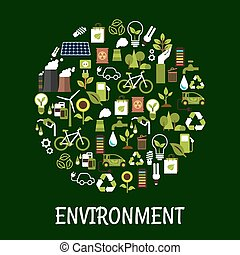 Environmental ecology friendly poster