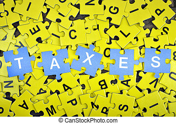 Puzzle with word Taxes