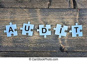 Puzzle with word Audit