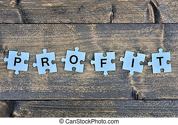 Puzzle with word Profit