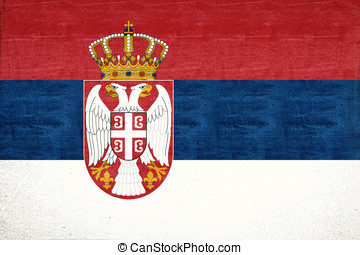 Flag of Serbia Grunge - Illustration of the national flag of...