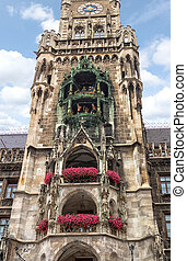 City Hall at Marienplatz in Munich, Germany