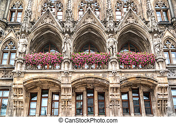 City Hall at Marienplatz in Munich, Germany.