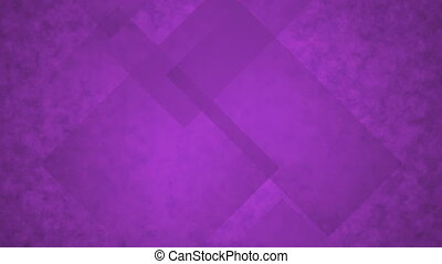 Purple Glass Rectangles. Computer Generated Seamless Loop...