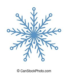 Blue vector snowflake