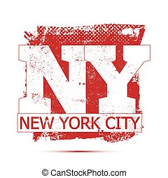 College New York typography, t-shirt graphics, vectors. -...