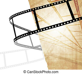 Grunge background - symbolical the image of a filmstrip