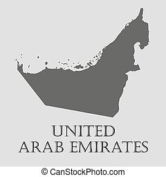 Gray United Arab Emirates map - vector illustration - Gray...