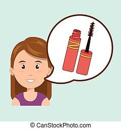 woman make up brush
