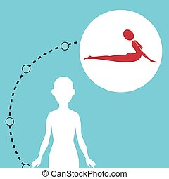 silhouette woman healthy yoga