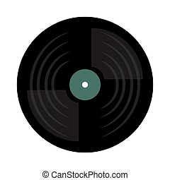 vinyl disc isolated icon