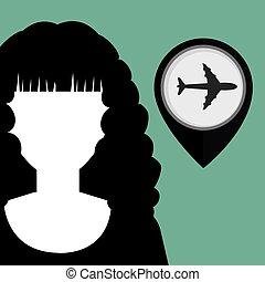 silhouette web internet pin vector illustratio graphic