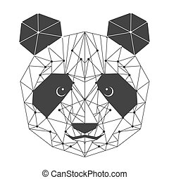 panda bear isolated icon vector illustration design