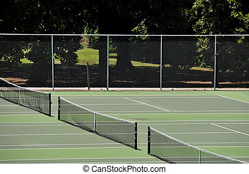 Tennis Court - A court used for the popular sport of tennis