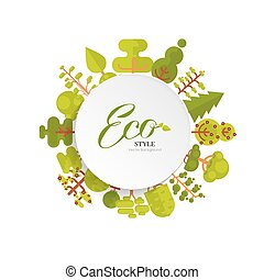 illustration of bare circle banner or round sticker with...