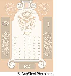 Retro windows calendar