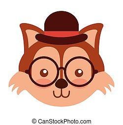 cute animal hipster style