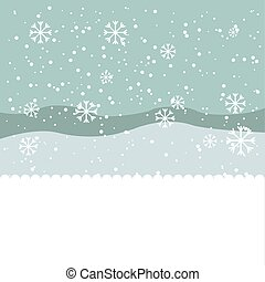 winter season landscape icon vector illustration design