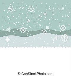 winter season landscape icon vector illustration design
