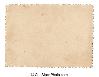 Texture old paper with traces of scuffs and stains. Isolated...