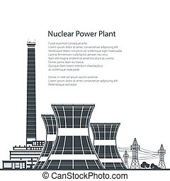 Silhouette Nuclear Power Plant and Text - Silhouette Nuclear...