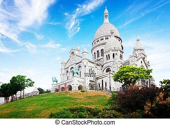 Sacre Coeur church, Paris - view of world famous Sacre Coeur...