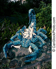 Sculpture of Scorpion in a Garden, Kolhapur, Maharashtra,...