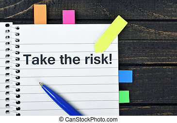 Take risk word on notepad