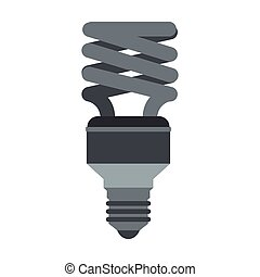 Energy saving lamp icon, flat style - Energy saving lamp...