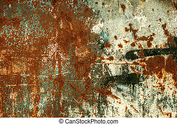 Rusty old scratched metal textured background