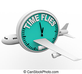 Time Flies - Plane and Clock