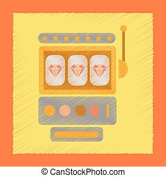flat shading style icon slot machine