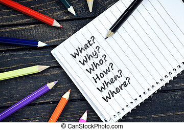 テキスト, メモ用紙, 質問