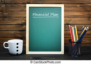 Financial Plan text on school board