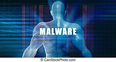 Malware as a Futuristic Concept Abstract Background