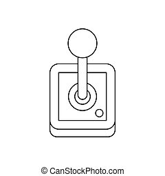 Stick shift, transmission icon, outline style - Stick shift,...