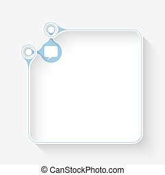 A white box for your text  and speech bubble
