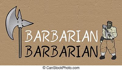 barbarian symbol - Creative design of barbarian symbol